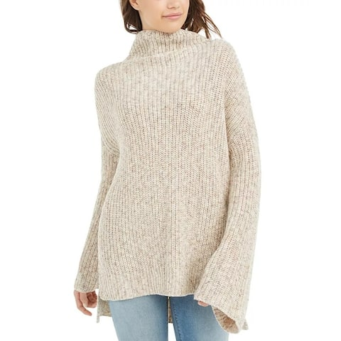 American Rag Juniors' Flare-Sleeved High-Low Sweater Beige Size XX Large - XX-Large