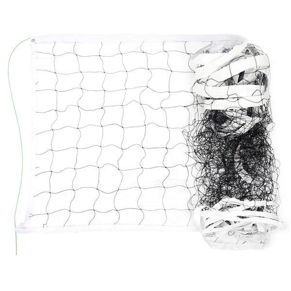 Outdoor Stadium Nylon White Trim Black Braided Knotted Sports Volleyball Net