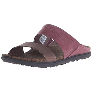 Merrell Womens Around Town Leather Colorblock Slide Sandals - 5 medium (b,m)