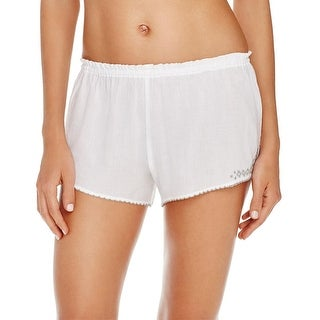 Naked Womens Sleep Short Cotton Embroidered