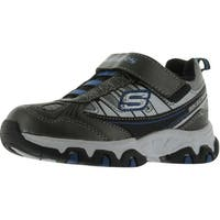 Skechers Boys 95402/Gury Fashion-Sneakers - gunmetal/slvr/ryl - 11 m us little kid