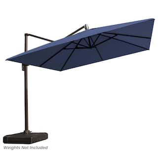 10 FT Patio Cantilever Offset Umbrella with Crank and Cross Base