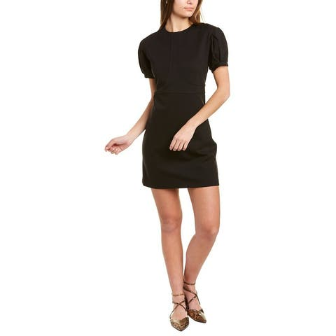 Nicole Miller Short Sleeve Ponte Mini Dress