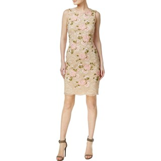 Calvin Klein Womens Petites Cocktail Dress Floral Lace - 10P