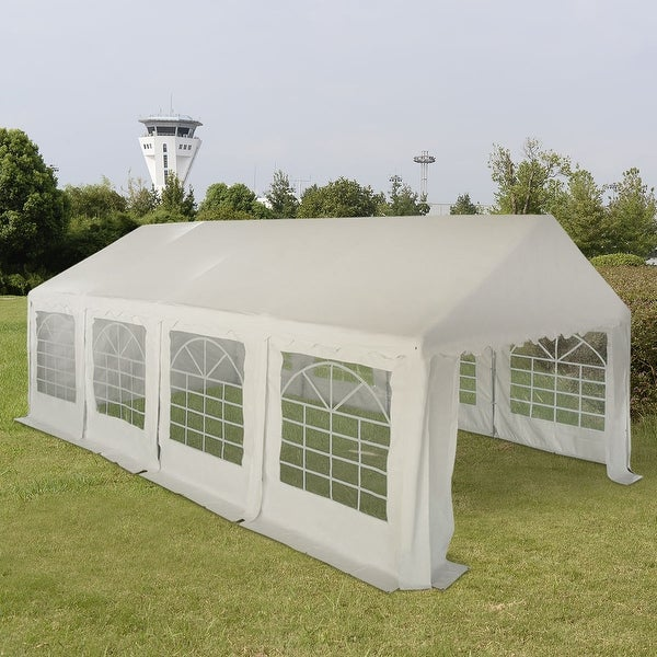 Costway 13u0026#x27;X26u0026#x27; Party Wedding Tent Shelter Heavy Duty Outdoor & Costway 13u0027X26u0027 Party Wedding Tent Shelter Heavy Duty Outdoor ...