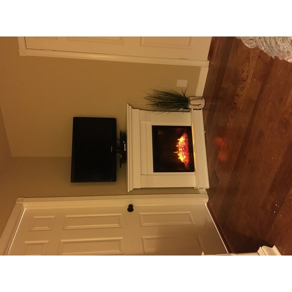 Real Flame Chateau White 40.94 in. L x 25.28 in. W x 37.6 in. H ...