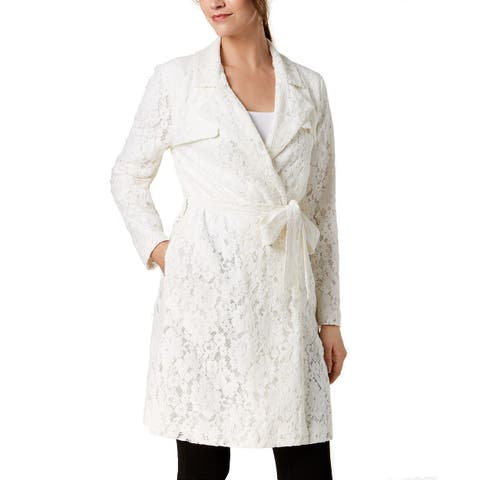 Alfani Women's New Lace Trench Coat (L)