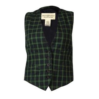 Denim & Supply Women's Five-Button Plaid Vest