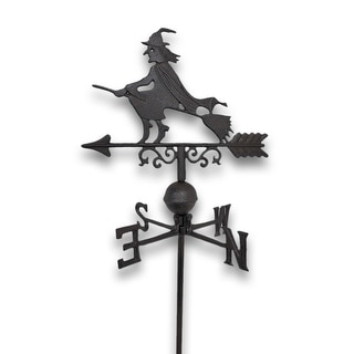 Flying Witch Weathervane Lawn Decoration Garden Stake