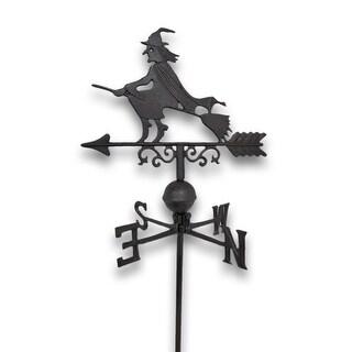 Flying Witch Weathervane Lawn Decoration Garden Stake
