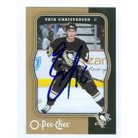 Erik Christensen Autographed Hockey Card Pittsburgh Penguins