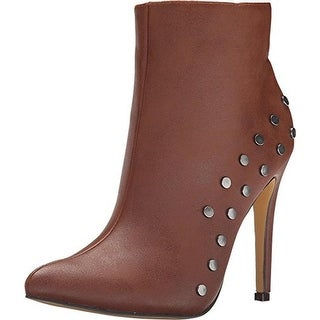 Michael Antonio Womens Force Ankle Boots Faux Leather Studded