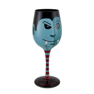 This Blood's For You Hand Painted Vampire Wine Glass