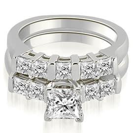1.50 cttw. 14K White Gold Princess Cut Diamond Engagement Bridal Set|https://ak1.ostkcdn.com/images/products/is/images/direct/36e13833eba1d15062c16a8996b72a7a204b29f3/1.50-cttw.-14K-White-Gold-Princess-Cut-Diamond-Engagement-Bridal-Set-%28SI2%2C-H-I%29.jpg?impolicy=medium
