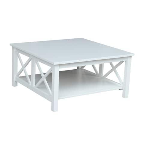 "Hampton Solid Hardwood Square Coffee Table - 36"" x 36"" - 36"" x 36"""
