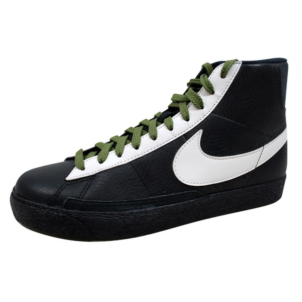 Nike Men's Blazer Hi Premium Dark Obsidian/White-Green 312457-412