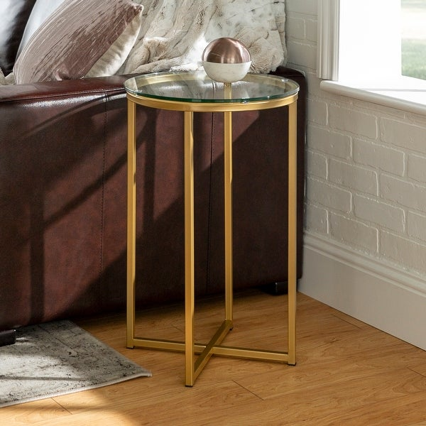 Silver Orchid Helbling Modern Round Side Table. Opens flyout.