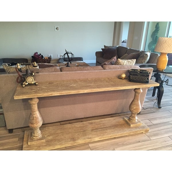 parvin hand crafted wood console table by kosas home free shipping today