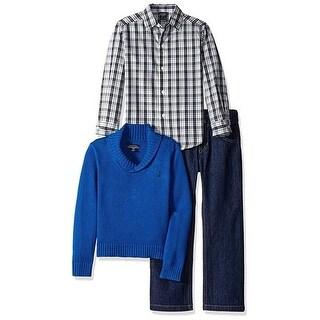 Nautica Boys 4-7X 3-Piece Collar Sweater Set (Option: 4)