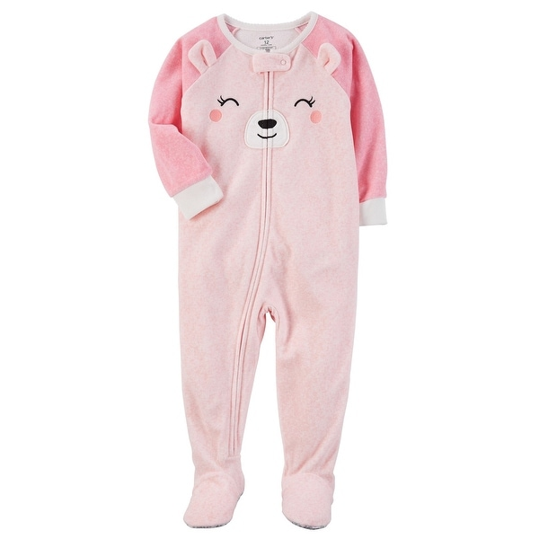 7bd361ef6 Shop Carter s Baby Girls  1 Piece Bear Fleece Pajamas