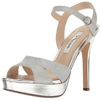 Nina Womens Shara Open Toe Special Occasion Ankle Strap Sandals