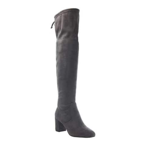 Madeline Women's Burdock Over the Knee Boot Charcoal Textile
