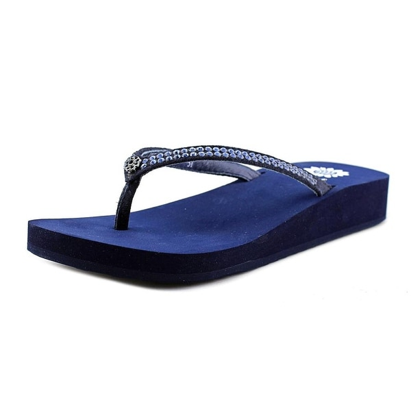 Yellow Box Jello Women Open Toe Synthetic Black Flip Flop Sandal