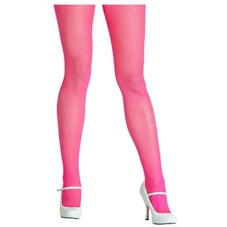 Neon Pink Fishnet Tights