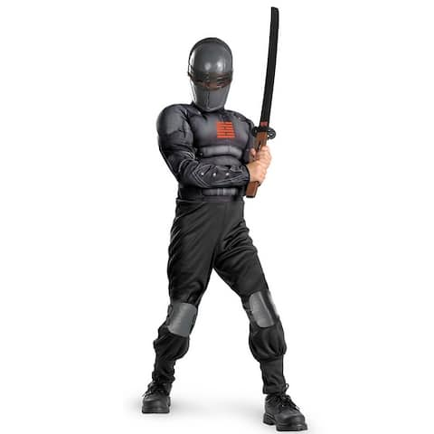Disguise GI Joe Retaliation Snake Eyes Light-Up Deluxe Muscle Child Costume - Black