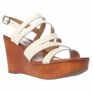 Lucky Brand Marinaa Wedge Strappy Sandals, Linen