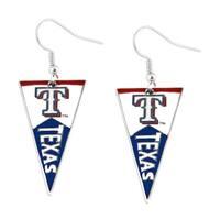 Texas Rangers MLB Pennant Dangle Earring