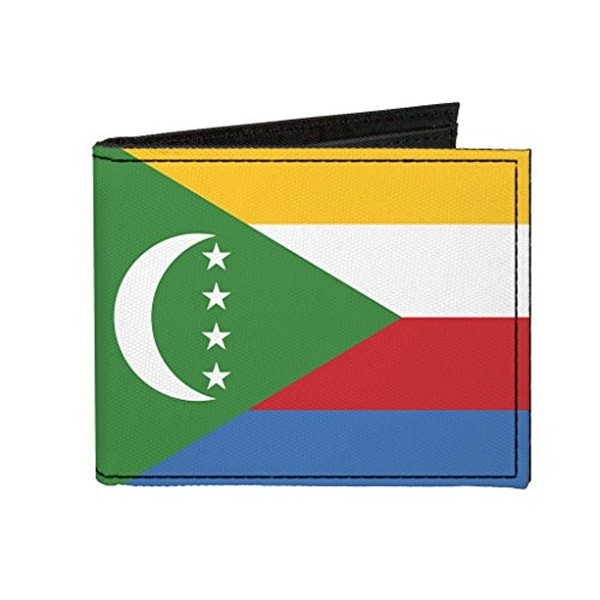 Buckle-Down Canvas Bi-fold Wallet - Comoros Flag Accessory