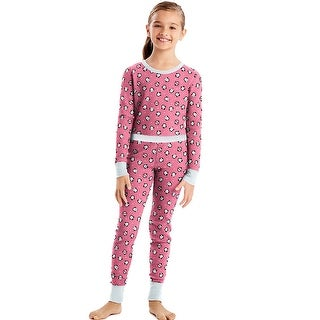 Hanes X-Temp Girls' Organic Cotton Printed Thermal Set - L