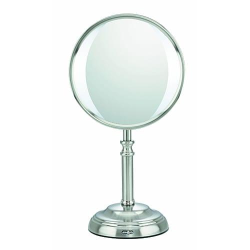 Conair BE101108 1x /10x Magnifying Variable LED Mirror Satin Nickel