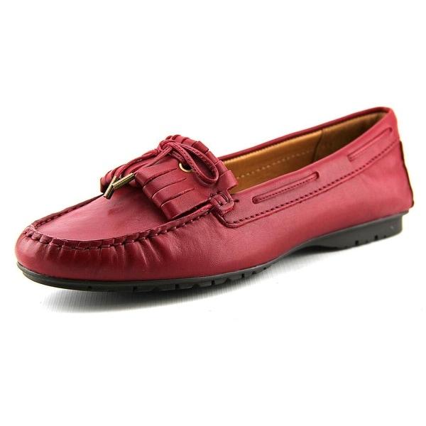 Sebago Meriden Kiltie Women Moc Toe Leather Burgundy Loafer