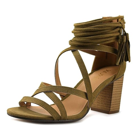 Xoxo Womens Elle Fabric Open Toe Casual Strappy Sandals