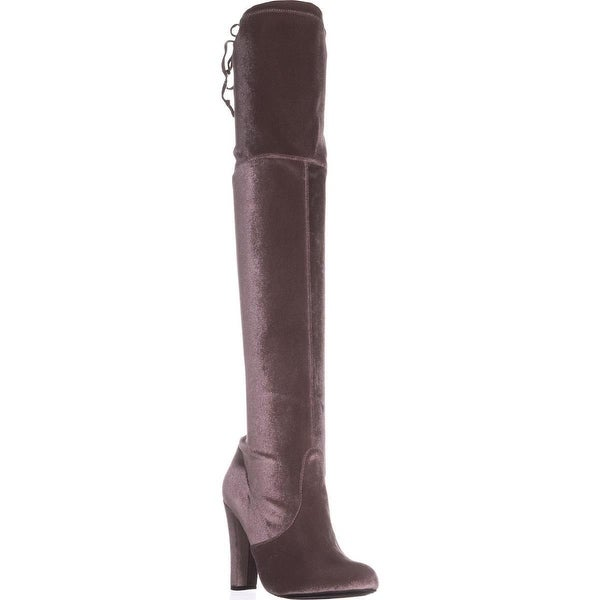 Steve Madden Gorgeous Over-The-Knee Dress Boots, Taupe Velvet