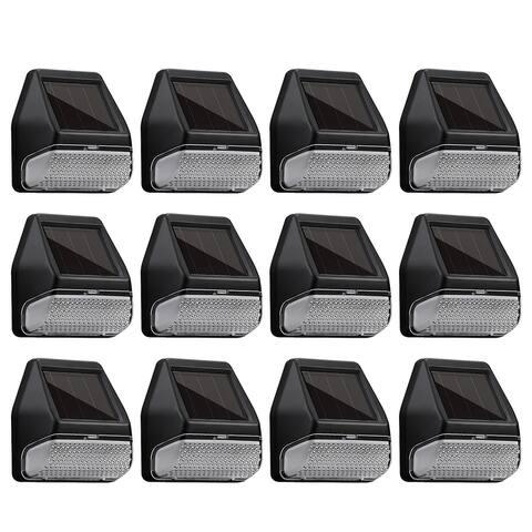 6/12PACK LED Solar-Powered Deck Lights, 4000K Cool White
