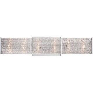 "Platinum PRN8606 Paragon 6 Light 22"" Wide Reversible Bathroom Vanity Light with Optic Crystal Shade"