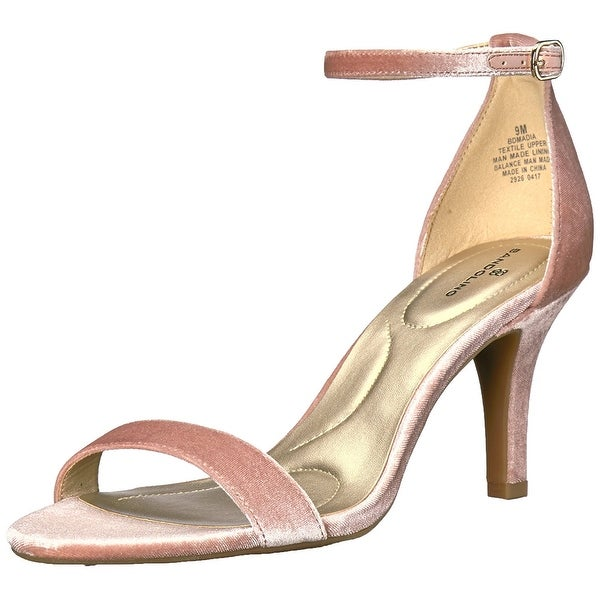 Bandolino Womens Madia Fabric Open Toe Casual Ankle Strap Sandals