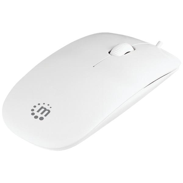 Manhattan 177627 Silhouette Optical Mouse (White)