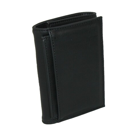 Buxton Men's Leather RFID ID Trifold Travel Wallet - One size