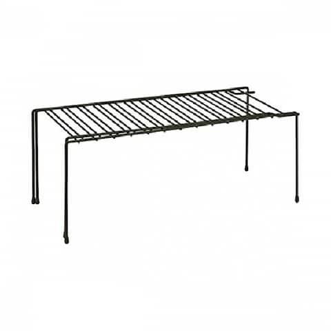 "Honey-Can-Do KCH-04370 Steel Wire Expandable Shelf, 26"", Black"