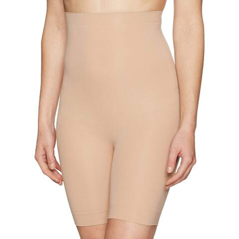 Arabella Women's Seamless High-Waist Thigh Control Shapewear, Nude, Medium