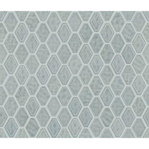 "Shaw CS51V Geoscape - 11"" x 13"" Hexagon Geometric Mosaic Wall Tile -"