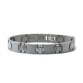 Titanium Men's Link Bracelet 12mm Wide 8.5 Inches