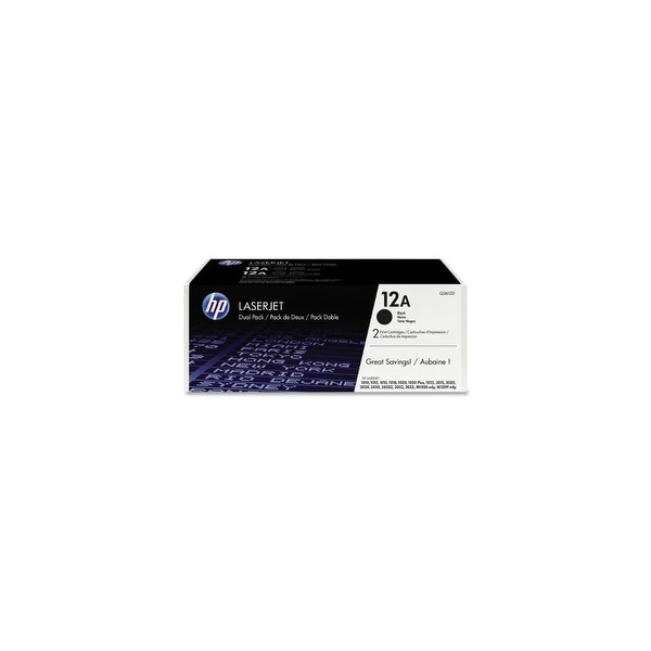 HP 13A Black Original LaserJet Toner Cartridge (Q2612D)(Single Pack)