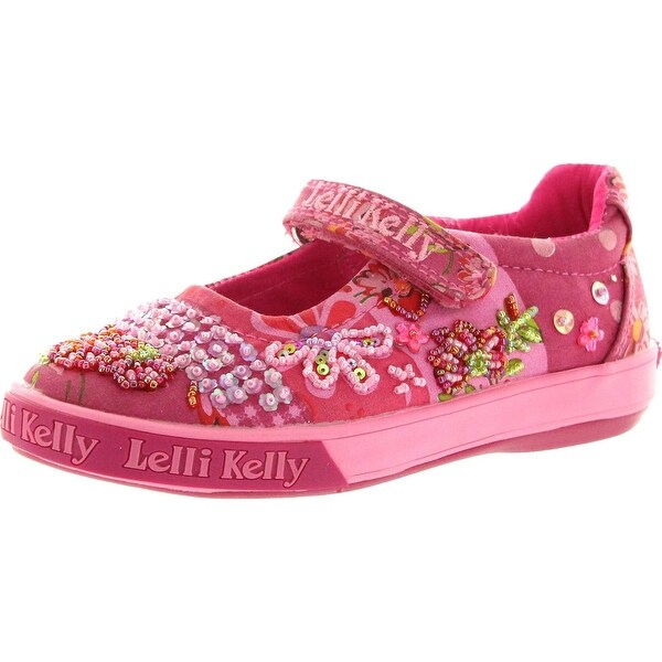Lelli Kelly Girls Lk8102 Fashion Canvas Mary Jane Flats