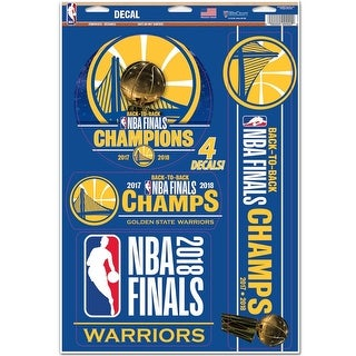 Golden State Warriors World Champions Multi Use Decals