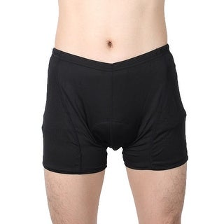 JING TANG Authorized Men 3D Padded Outdoor Underpants Cycling Shorts Black W36